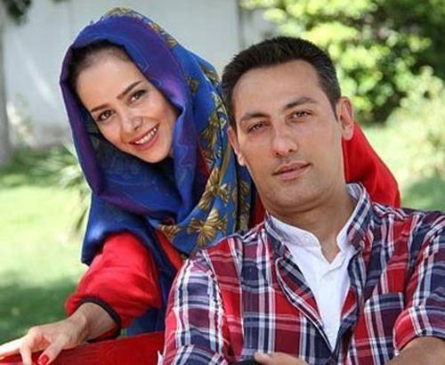 الناز حبیبی و همسرش