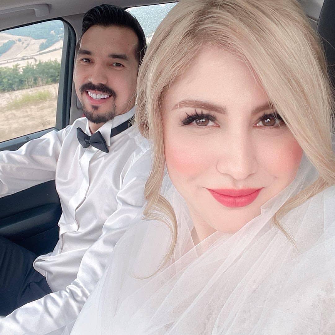 فرهاد قائمی و همسرش