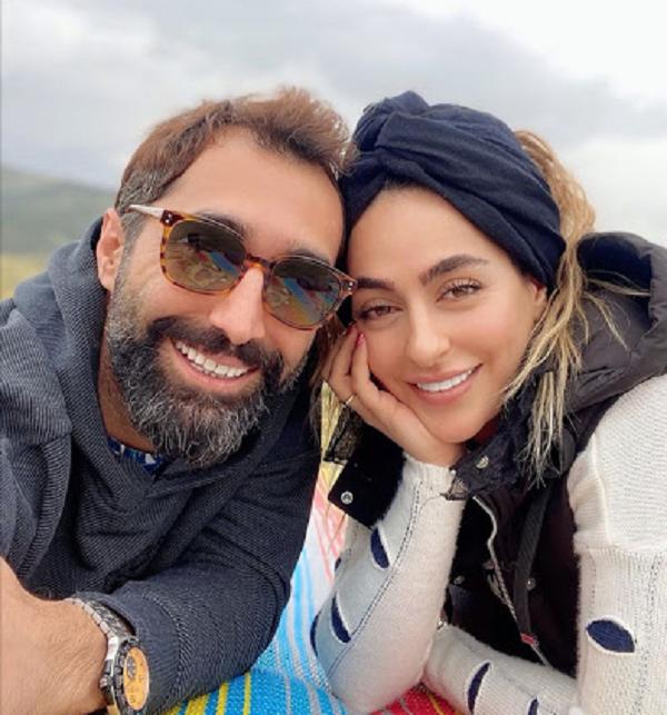 هادی کاظمی و همسرش سمانه پاکدل