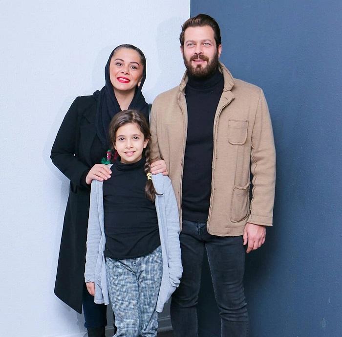 پژمان بازغی به همراه خانواده