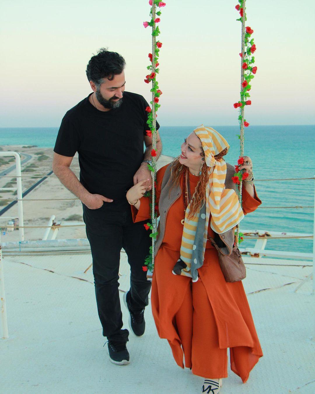بهاره رهنما و همسرش حاجی