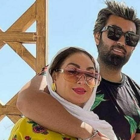 تصویری عاشقانه الهام حمیدی و همسرش