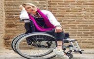 دختر معلول ایرانی که  در عرصه مدلینگ فعالیت می کند + عکس