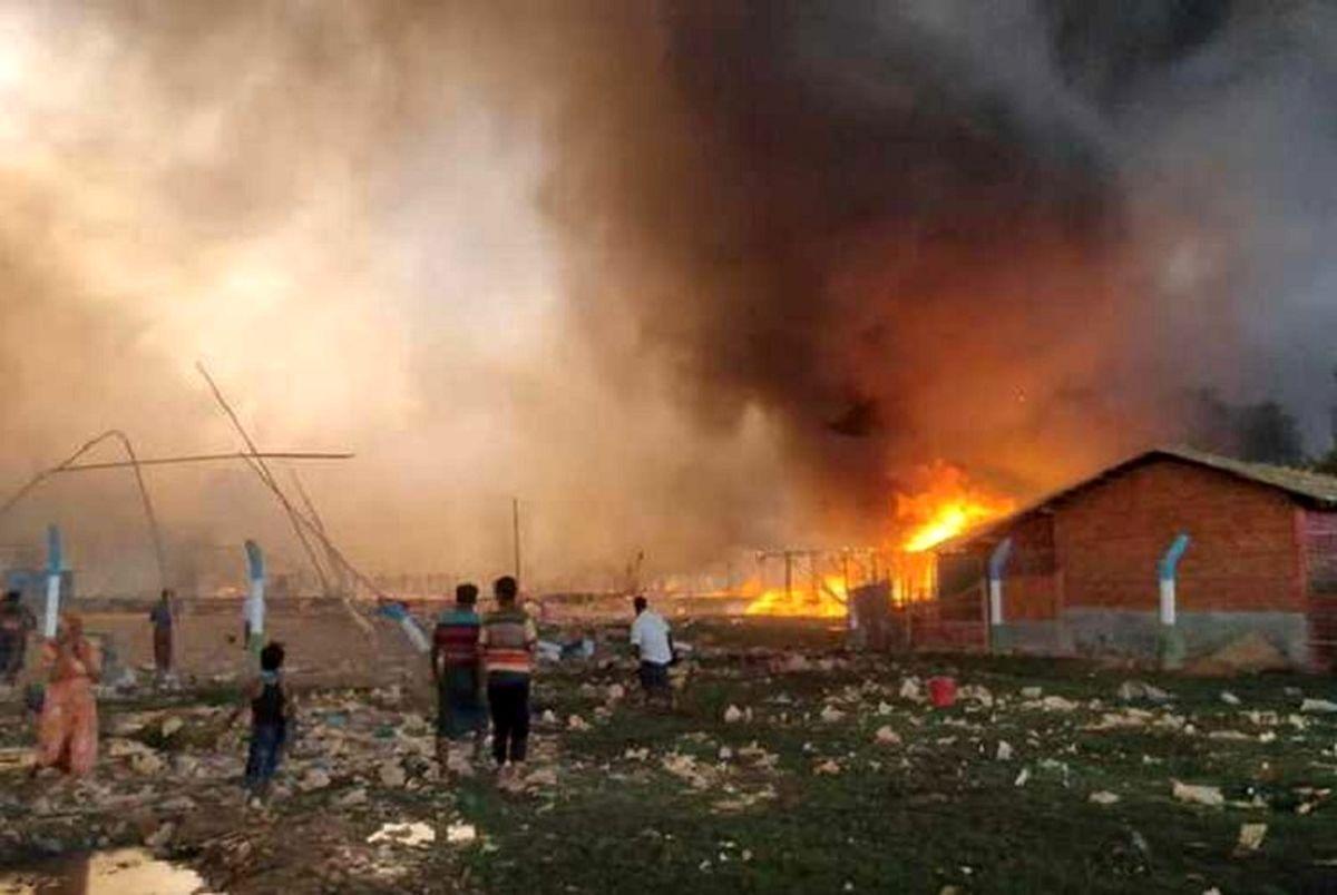 مفقود شدن پناهندگان روهینگیا پس از آتش سوزی مهیب