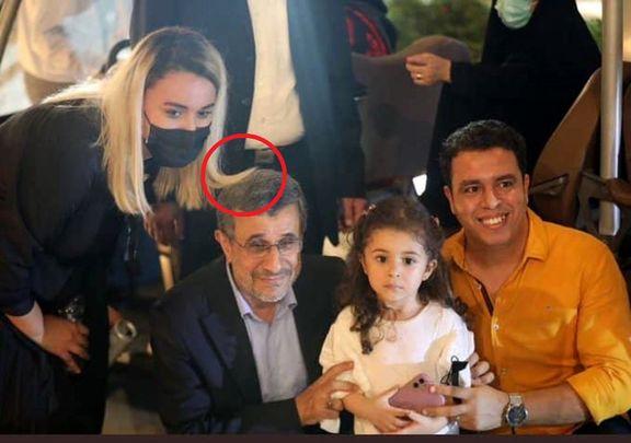 """(ویدیو) موی بلوند زن بی حجاب """"همسر احمدی نژاد"""" را غیرتی کرد!"""
