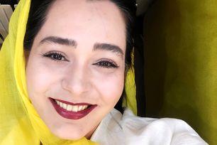 سانیا سالاری با حجاب نصفه و دندون های زرد + عکس