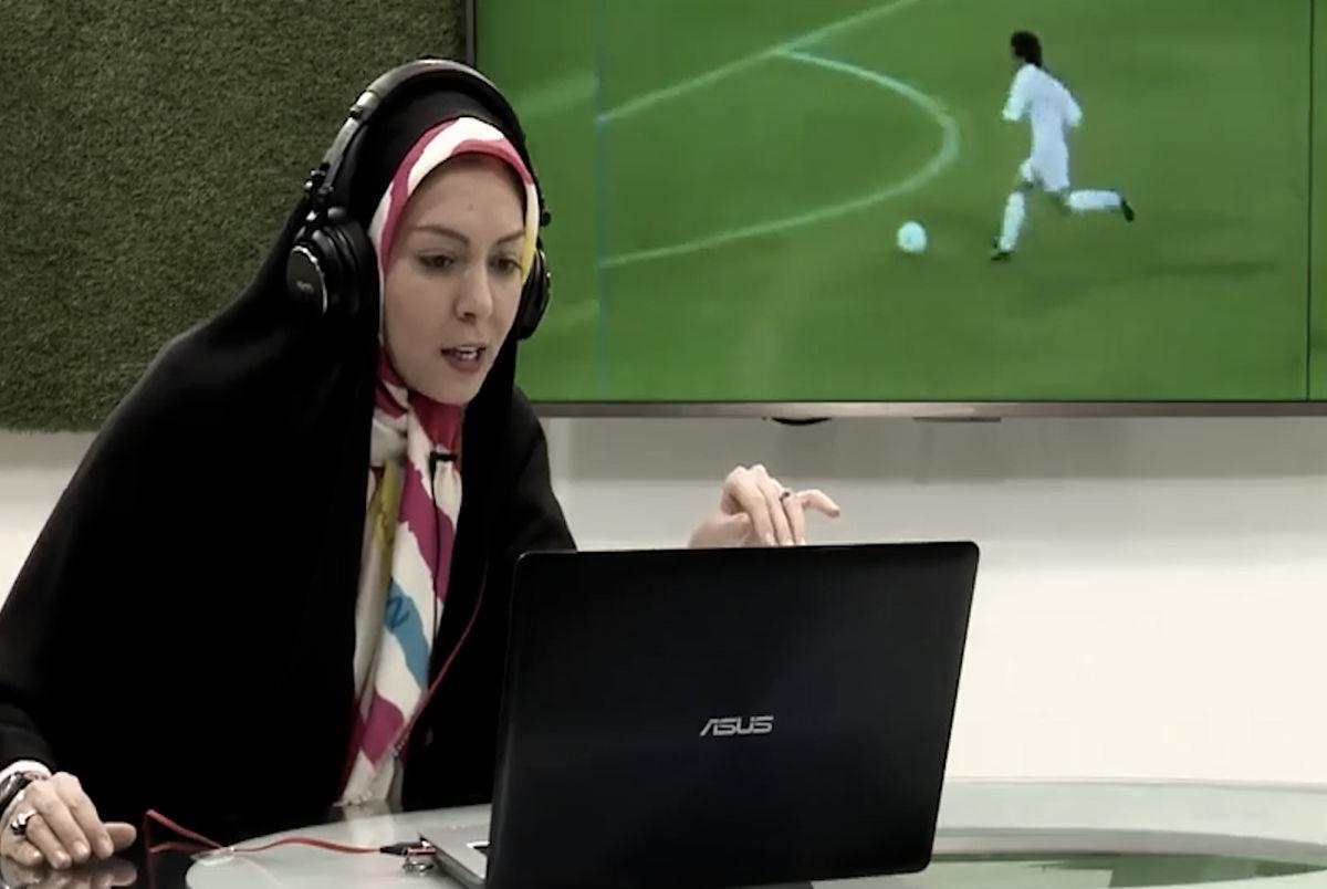 (ویدیو) وقتی آزاده نامداری گزارشگر فوتبال بود!
