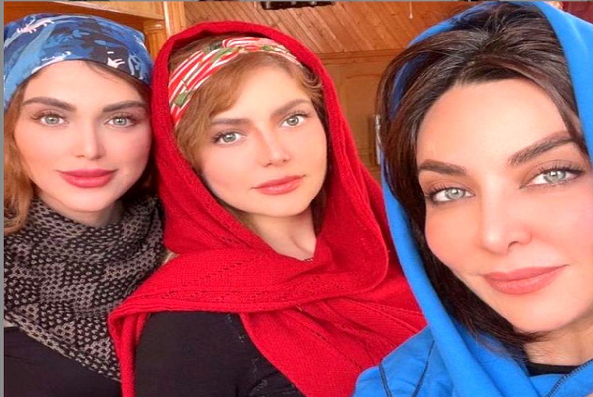زیبایی فقیهه سلطانی و خواهرانش سوژه کاربران شد + عکس