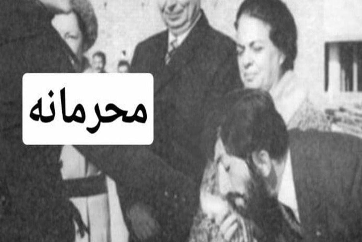 (عکس) غلامرضا نیک پی دست بوس فرح پهلوی کیست؟