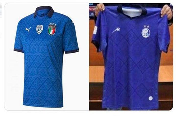 (عکس) پیراهن جدید استقلال، کپی برابر اصل پیراهن ایتالیا!