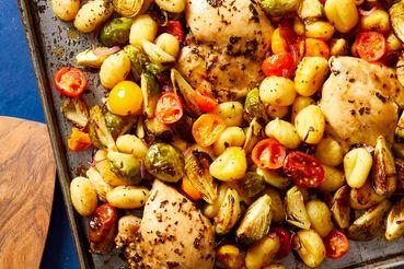 طرز پخت خوراک مرغ مدیترانه ای با سبزیجات