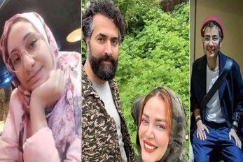 "بهاره رهنما و حاجی روز تعطیل ""روی یونجه ها"" اونم بدون دختراشون!"