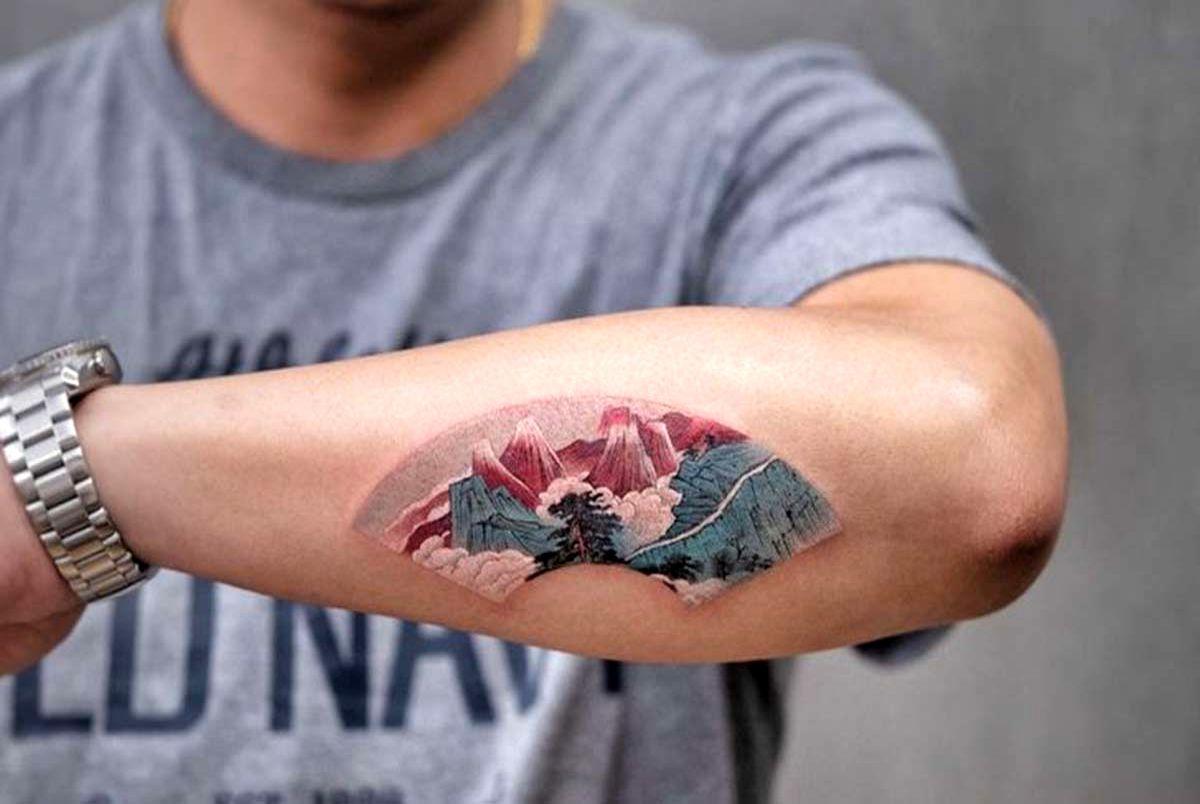 خالکوبی های رنگی و برجسته توسط یک هنرمند