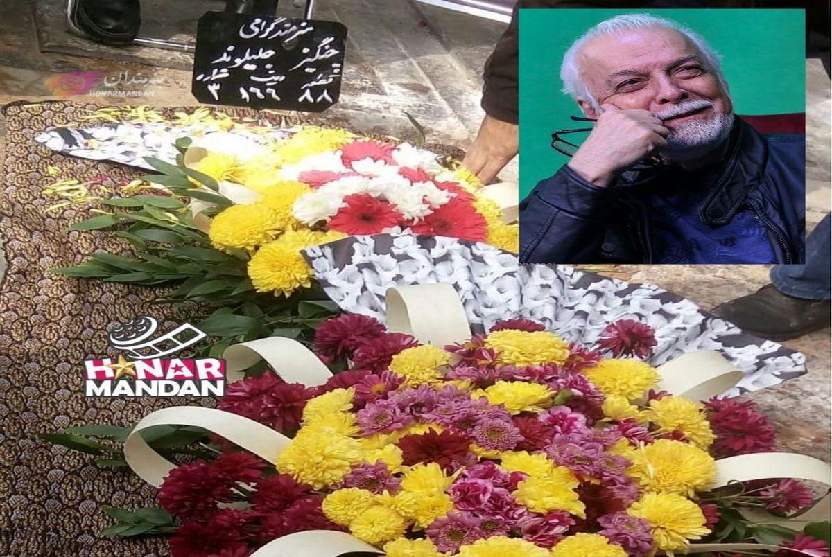 لحظه خاک سپاری زنده یاد چنگیز جلیلوند در بهشت زهرا