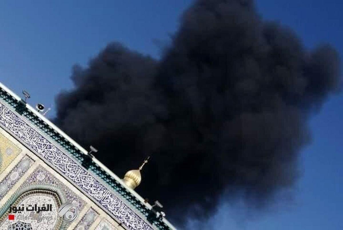 (عکس) آتش سوزی در کربلا نزدیک حرم!