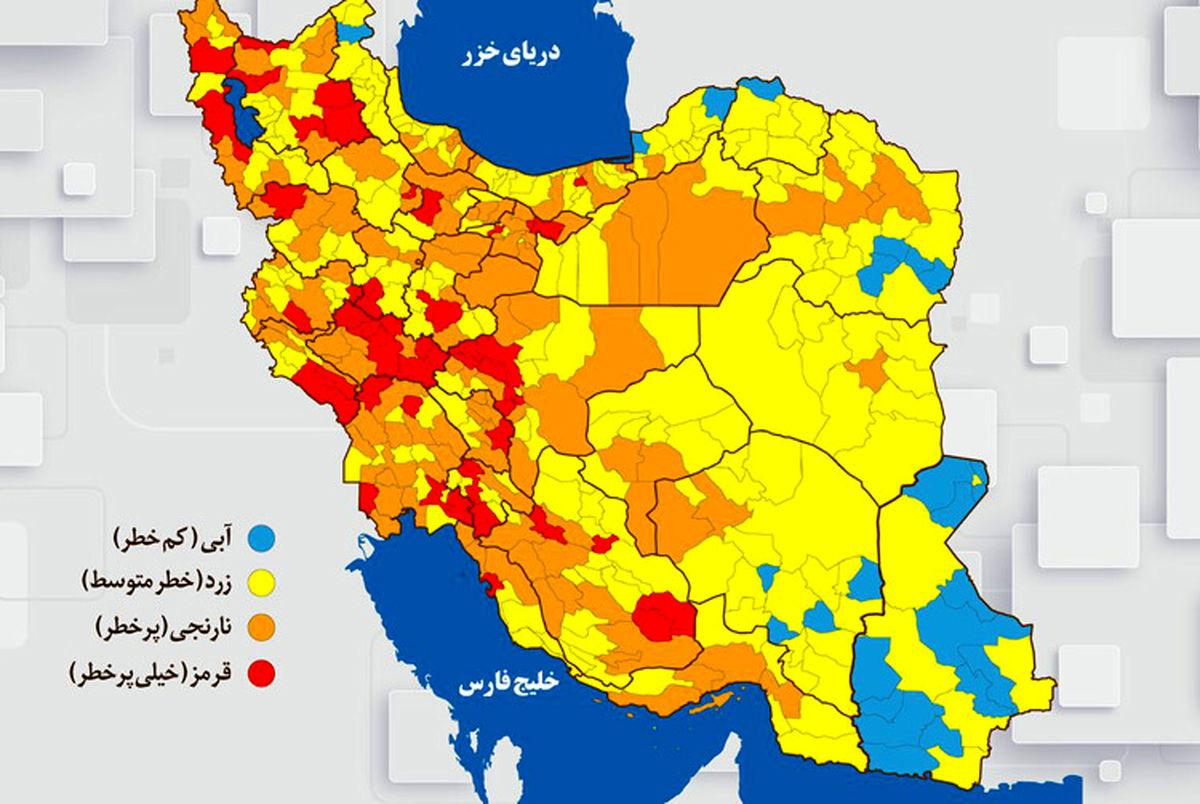 جدیدترین رنگبندی کرونایی؛ تهران در آستانه بحران!