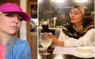 """ساره بیات با """"موهای بلوند"""" و میکاپ خانومانه در جشن تولدش!+عکس"""