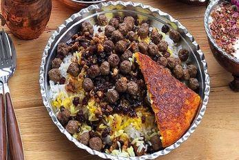 طرز تهیه قنبر پلو یا غم بر پلوی شیرازی + فوت کوزه گری