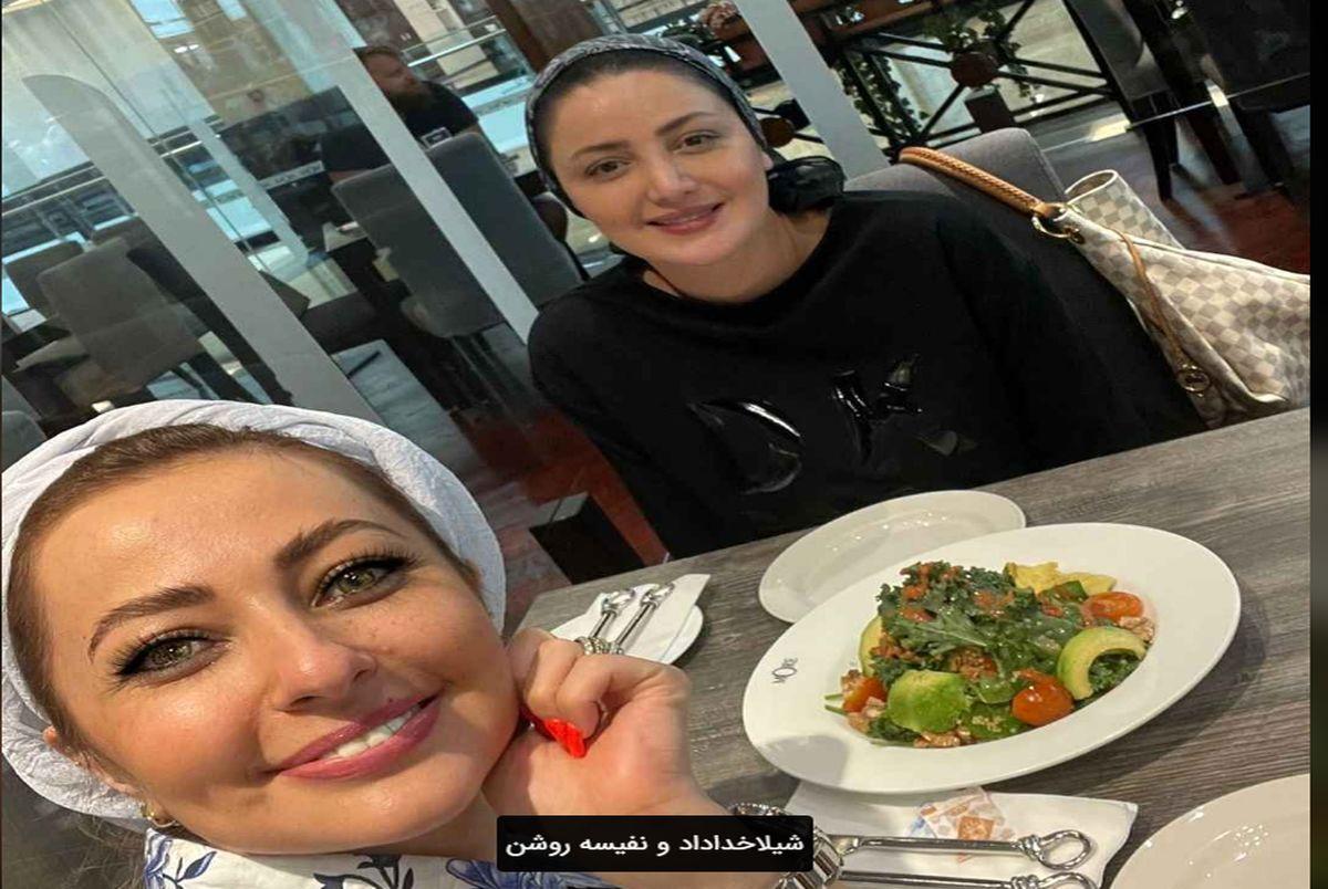 عکس جدید شیلا خداداد و نفیسه روشن در رستوران لاکچری