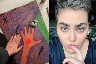 نقاشی ریحانه پارسا 5 ساله از ترکیه + عکس