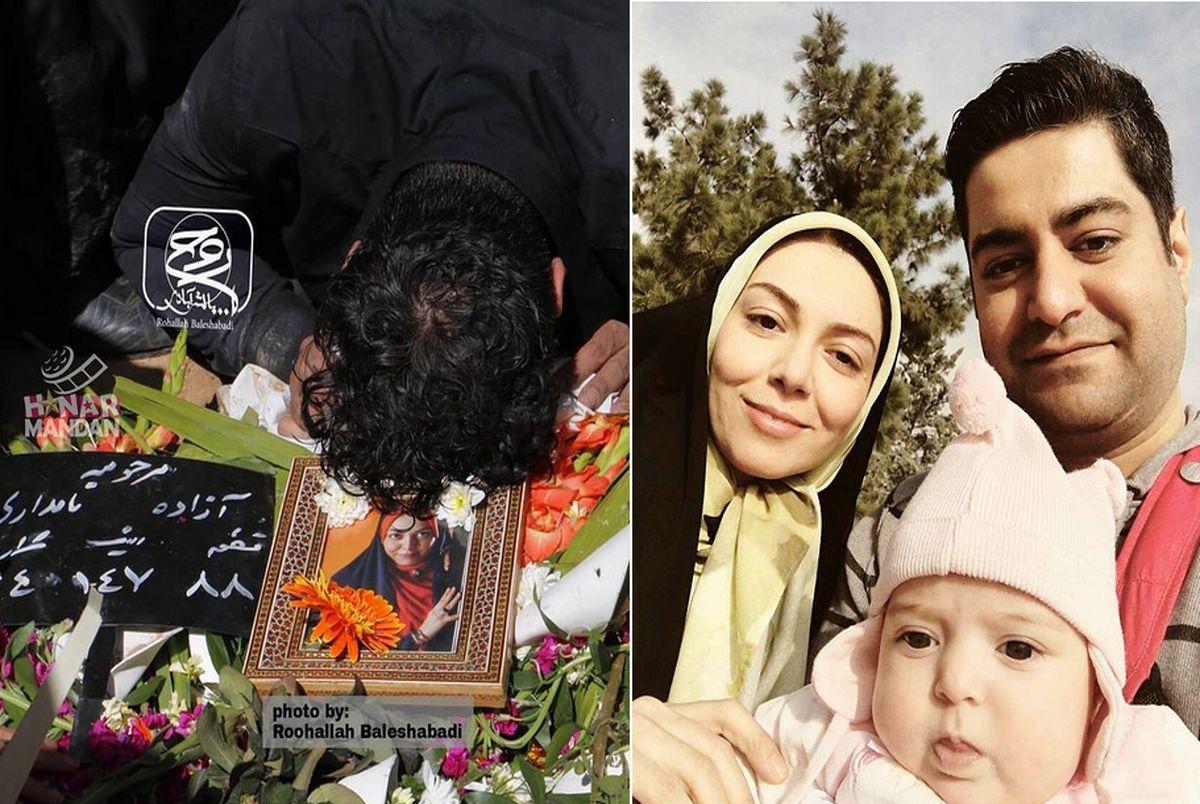 ضجه های دردناک همسر آزاده نامداری در آخرین وداع!