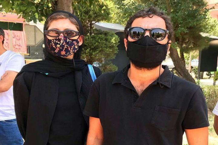 (عکس) حمایت نوید محمدزاده و فرشته حسینی از مردم خوزستان